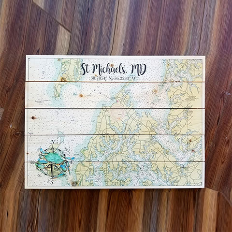 St Michaels, MD Pallet Map