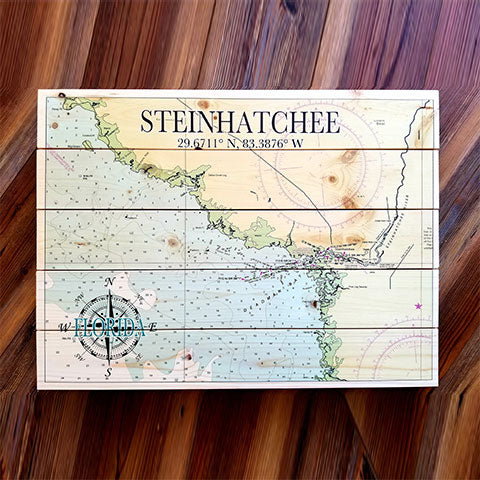 Steinhatchee, FL Pallet Map