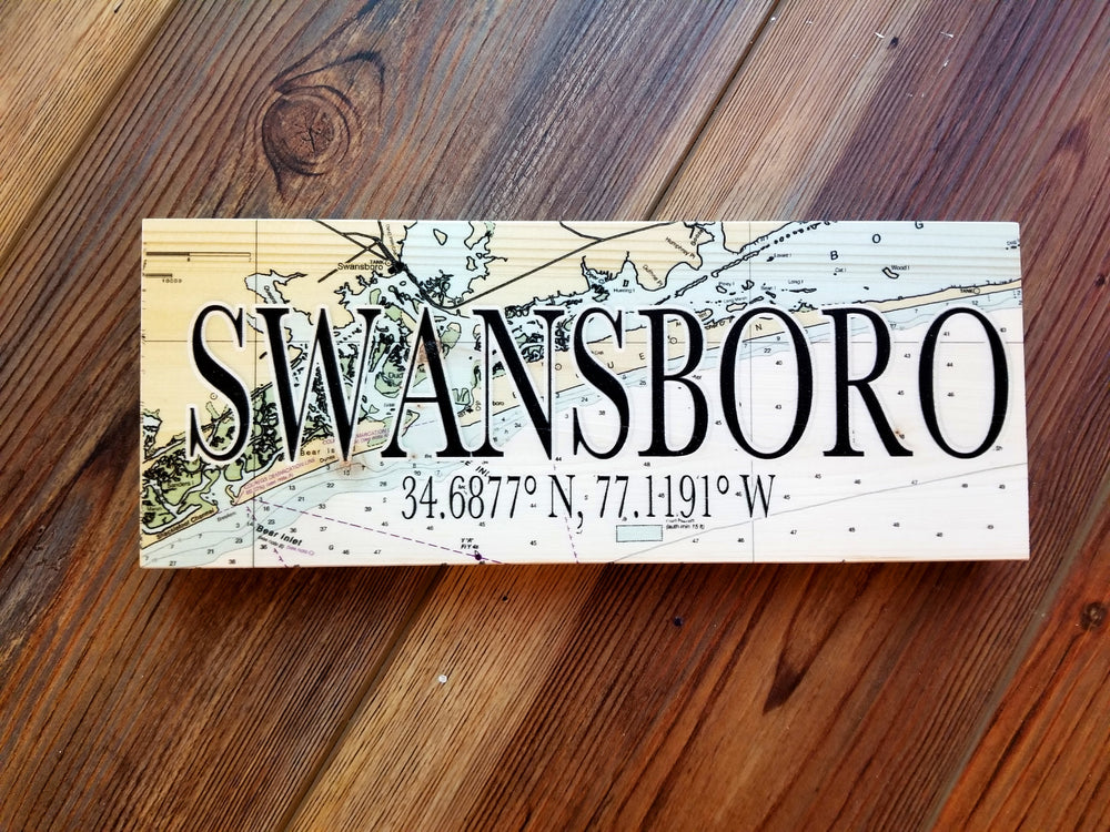 Swansboro, NC Mini Coordinate Sign