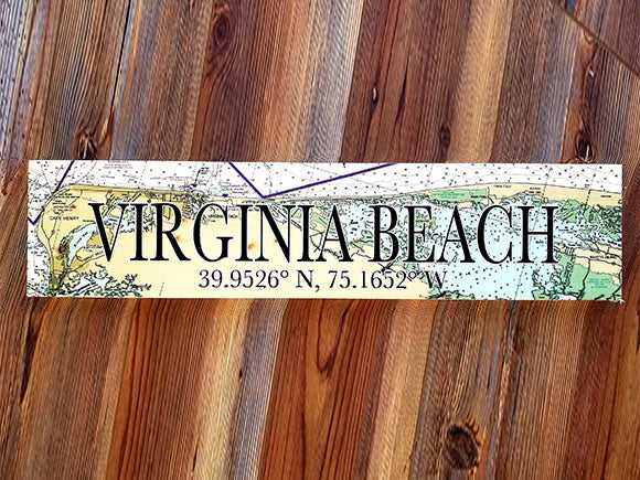 Virginia Beach, VA Coordinate Sign
