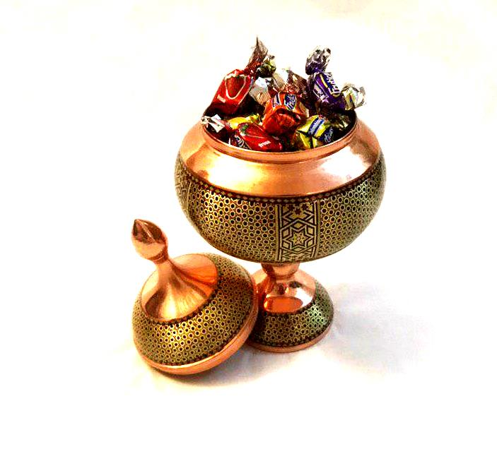 Copper Candy Pot - pasicraft
