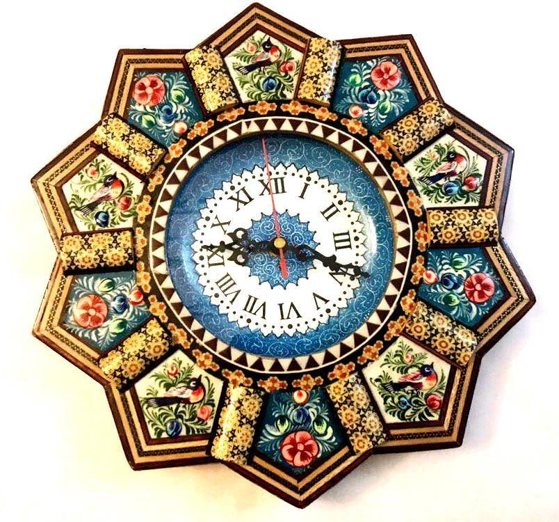 Sun Style Wooden Wall Clock - pasicraft