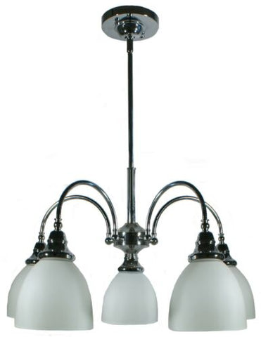 Benson 5lts Chrome Facing Down - Pendant