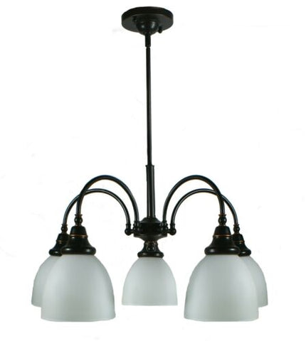 Benson 5lts Bronze Facing Down - Pendant