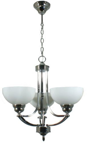 HOUSTON 3LT CHROME - PENDANT