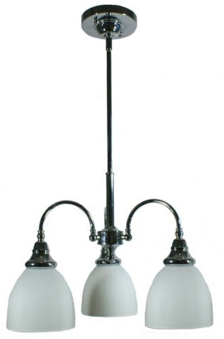 Benson 3lts Chrome Facing Down - Pendant