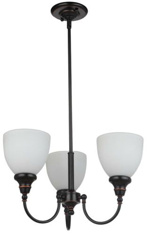 Benson 3lts Bronze Facing Up - Pendant