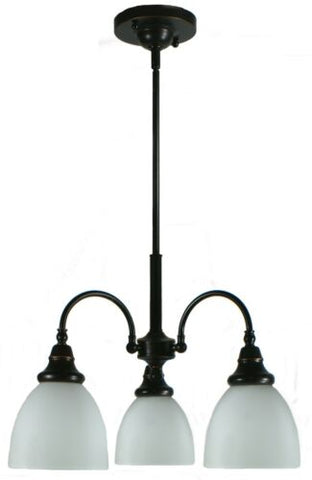Benson 3lts Bronze Facing Down - Pendant
