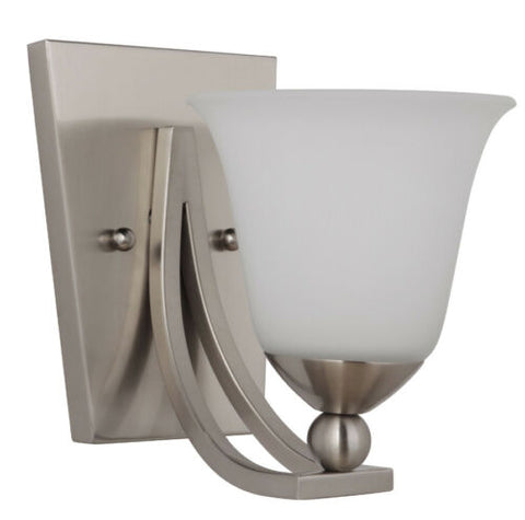 Lode Lighting - Rivoli 1lt Satin Nickel - W/B