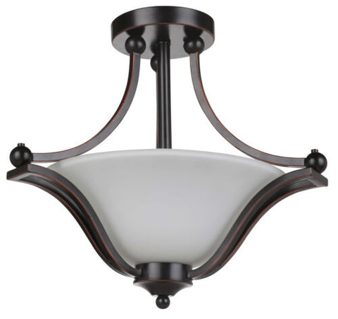 Rivoli 3lt Bronze - Semi-flush