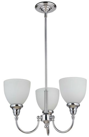 Benson 3lts Chrome Facing Up - Pendant