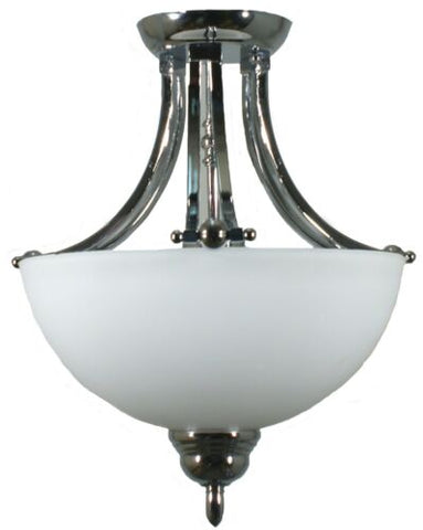 HOUSTON 2LT - SEMI FLUSH CHROME
