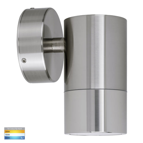 HV1108T - Maxi Tivah 316 Stainless Steel TRI Colour Fixed Down Wall Pillar Lights