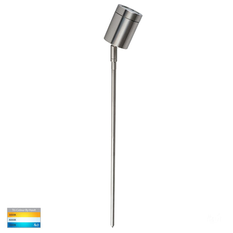 HV1401T - Pointe 316 Stainless Steel TRI Colour LED Garden Spike Light