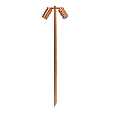 HV1405-CP -Tivah Copper Double Adjustable 2 x 5w LED Spike Light
