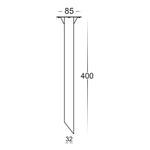 HV1607 - 316 Stainless Steel Bollard spike