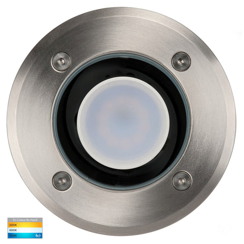 HV1801T - HV1806T - Metro Round 316 Stainless Steel TRI Colour Inground Lights