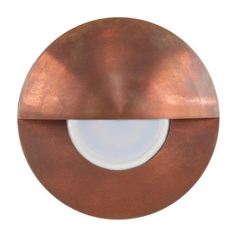 HV19012-CP - Ollo Copper 5w LED Step Light With Eyelid
