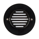 HV3219-BLK RND - RECREO Black Round Recessed LED Step Light
