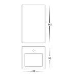 HV3633-SS316 - VELDI 316 Stainless Steel Square Up & Down Wall Light