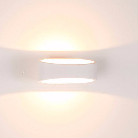HV3661-WHT - LUXE White Up & Down LED Wall Light