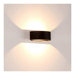 HV3662-BLK - ROND Black Up & Down LED Wall Light