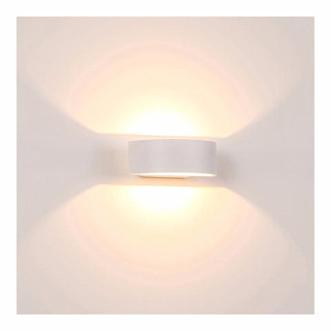 HV3662-WHT - ROND White Up & Down LED Wall Light