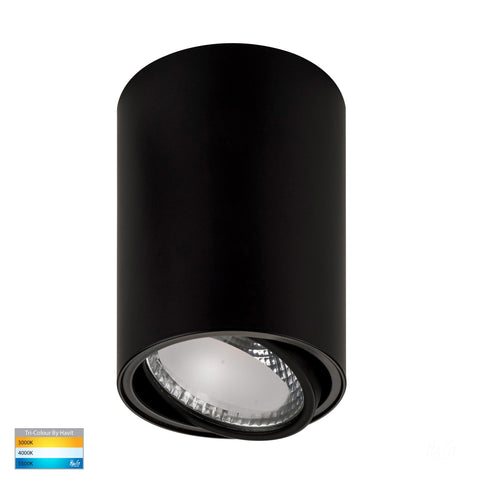 HV5813T-BLK - Nella 12w LED Black Adjustable Surface Mounted Downlight