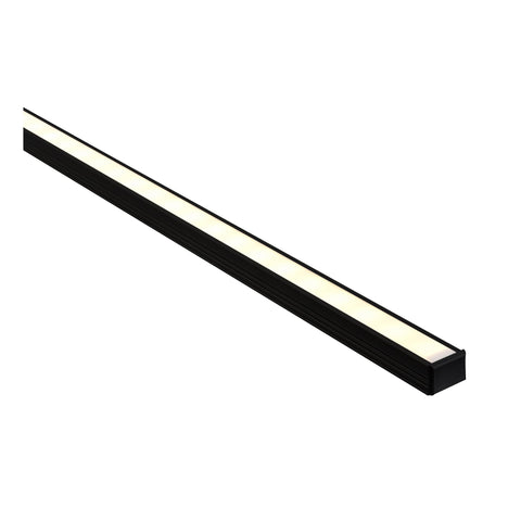 HV9693-1612-BLK - Black Shallow Square Aluminium Profile