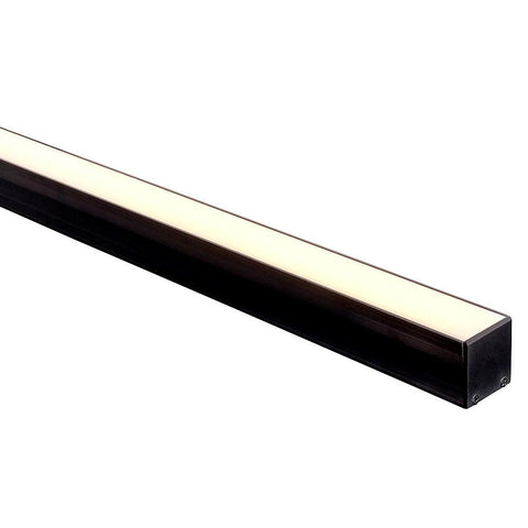 HV9693-3537-BLK - Black Deep Square Aluminium Profile