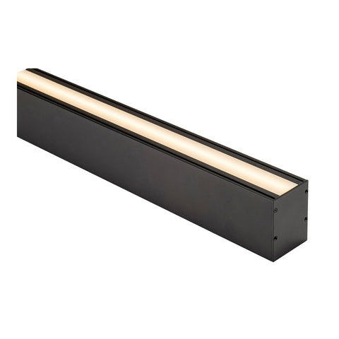 HV9693-6080-BLK - Deep Square Up & Down Black Aluminium Profile