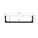 HV9699-2707-2M - Shallow Square Aluminium Profile 2m Length