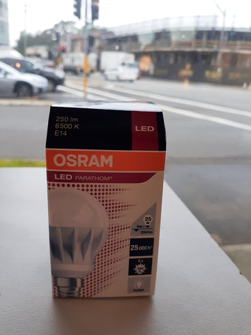 Osram LED 4W 250 Lumen Daylight (6500K) Small Edison Screw SES E14 bulb