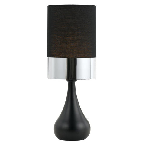 buy telbix akira table lamp light black chrome from Lights For You online