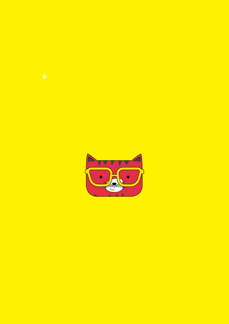 Solid Yellow Cool Cat