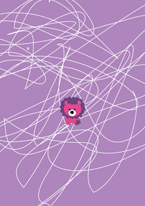 Scribbles Lion Lion Purple