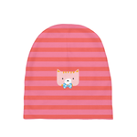 Baby Beanie_Horizontal Stripes Cool Cat Pink