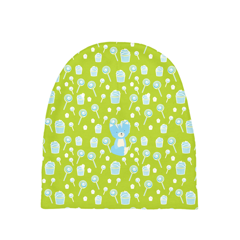 Baby Beanie_Sweetie Smarty Pants Green Blue