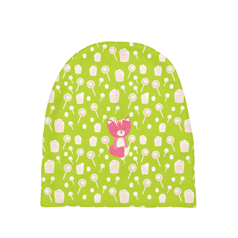 Baby Beanie_Sweetie Smarty Pants Green Pink