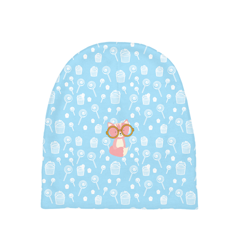 Baby Beanie_Sweetie Smarty Pants Blue Pink