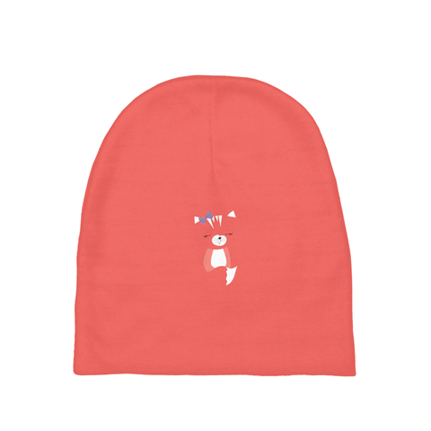 Baby Beanie_Hidden Kitten Red