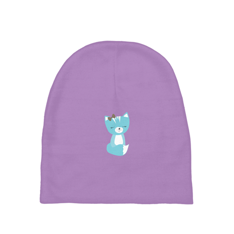 Baby Beanie_Solid Purple Smarty Pants Blue