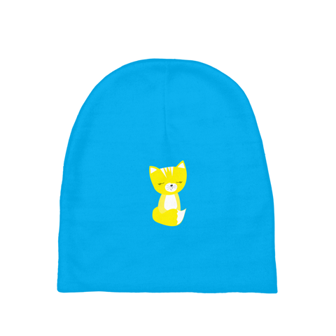 Baby Beanie_Solid Blue Smarty Pants Yellow