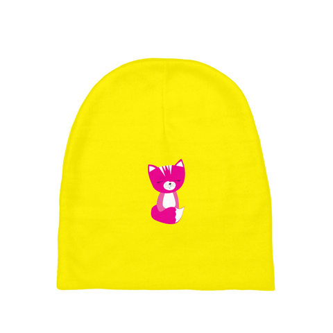 Baby Beanie-Solid Yellow Smarty Pants Pink