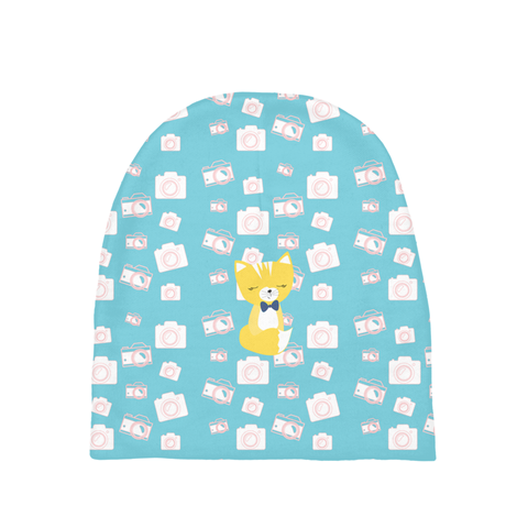 Baby Beanie_Say Cheese Smarty Pants Blue