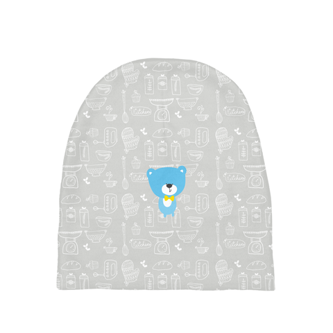 Baby Beanie_Baking Bear Grey