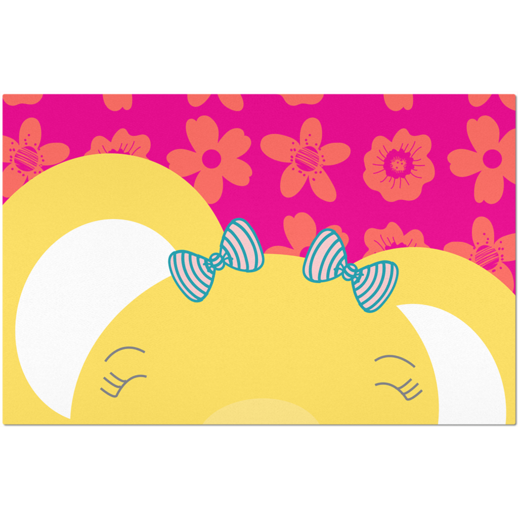 Placemats_Flower Power Elephant Pink
