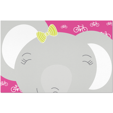 Placemats_My Bike Elephant Pink