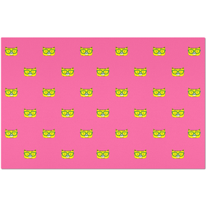 Placemats_Solid Pink Cool Cat