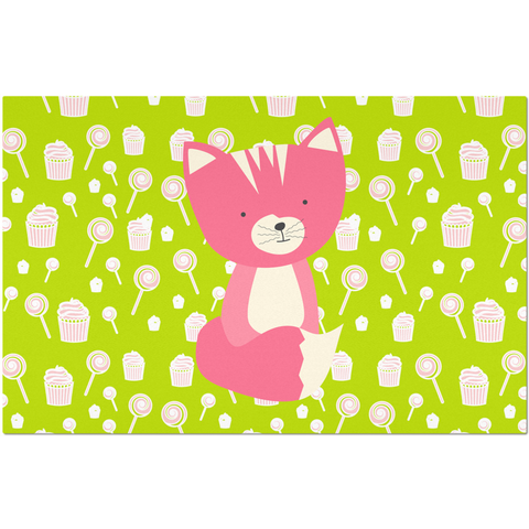 Placemats_Sweetie Smarty Pants Green Pink